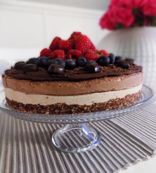 raw food tårta choklad